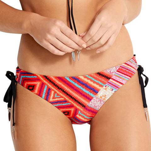 Seafolly Flame Desert Tribe Loop Tie Side Hipster Brief