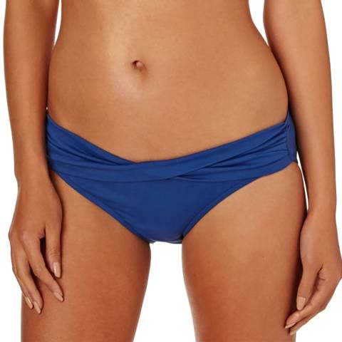 Seafolly French Blue Twist Band Hipster Brief