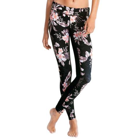 Seafolly Black Jungle Floral Tight