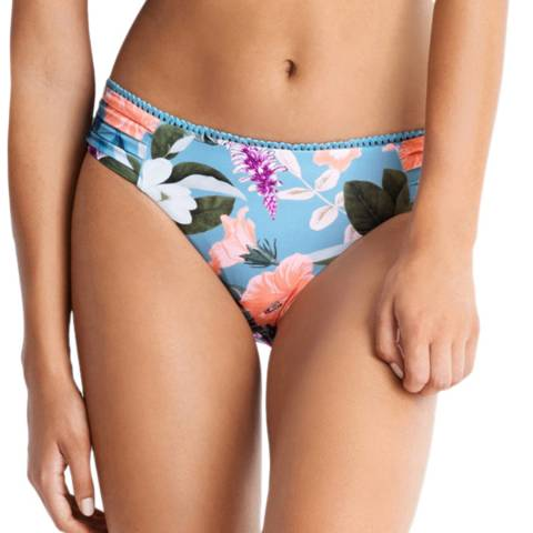 Seafolly Blue Mist Summer Vacay Ruched Side Retro Brief