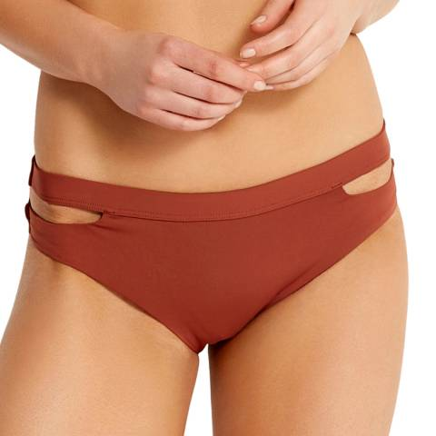 Seafolly Burnt Amber Active Split Band Hipster