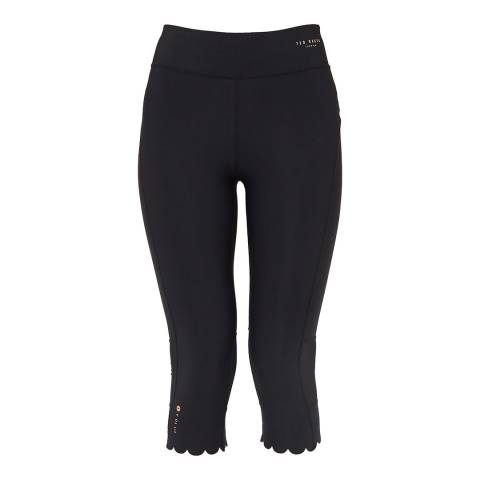 Ted Baker Black Mitzzi Scallop Hem Leggings