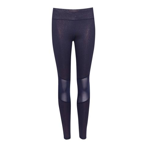 Ted Baker Navy Rabler Metallic Mesh Leggings
