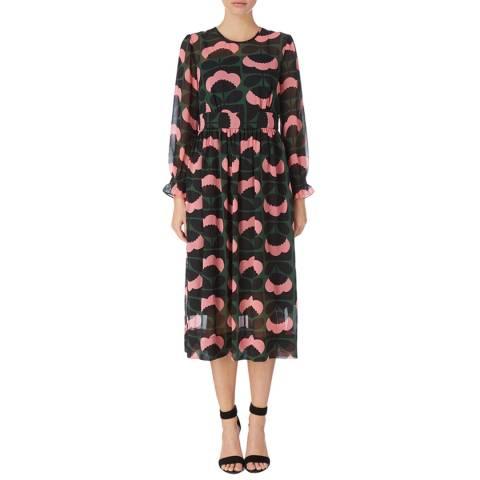 Orla Kiely Multi Stem Printed Georgette Midi Dress