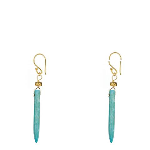 Liv Oliver Turquoise Spike Earrings