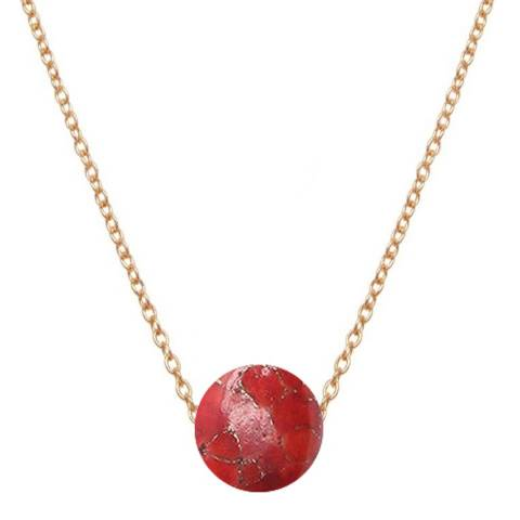 Liv Oliver Red Turquoise Necklace