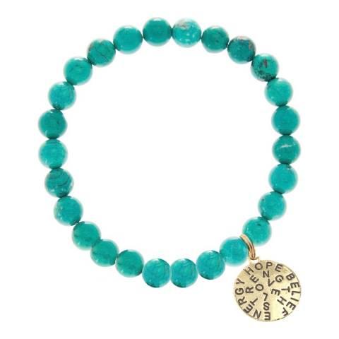 Liv Oliver Turquoise Inspirational Charm Bracelet