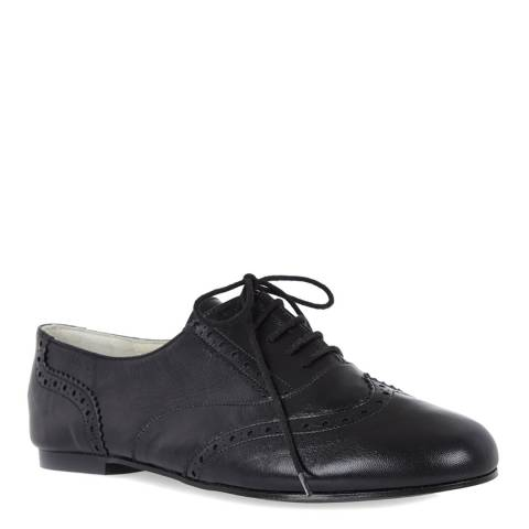 French Sole Black Leather Cambridge Brogues