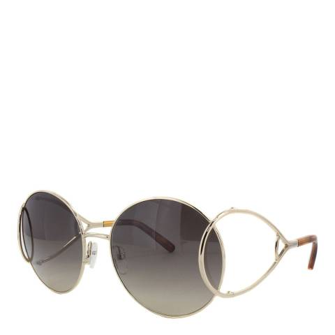 Chloe Women's Gold /Blonde Brown Chloe Sunglasses 60mm