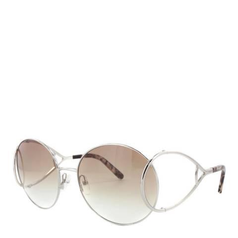 Chloe Women's Silver / Brown Chloe Sunglasses 60mm