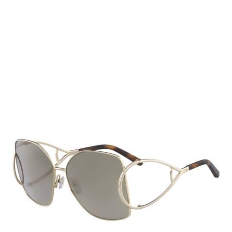 Chloe Women's Gold / Grey Chloe Sunglasses 65mm