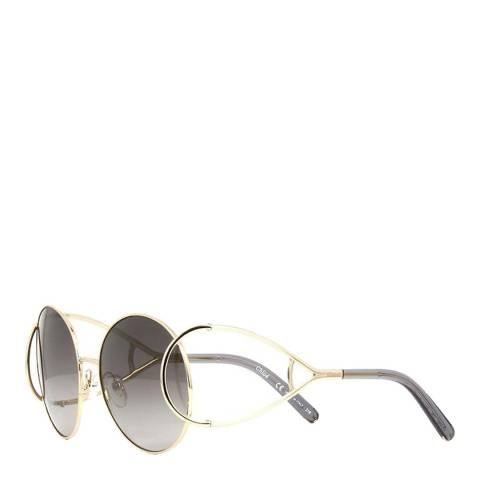 Chloe Women's Gold / Grey Chloe Sunglasses 60mm