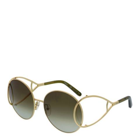 Chloe Women's Gold / Khaki Chloe Sunglasses 60mm