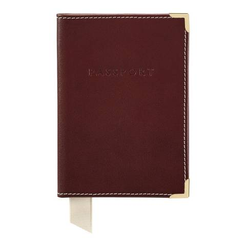 Aspinal of London Burgundy Suede Passport Cover