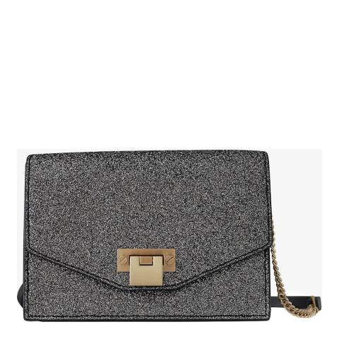 Reiss Silver Minnie Glitter Crossbody Bag