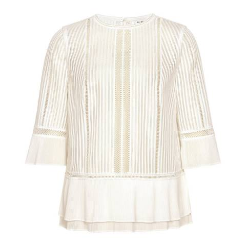 Reiss Ivory Erika Lace Top