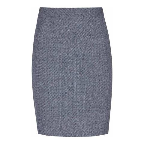 Reiss Dark Blue Russell Fitted Skirt