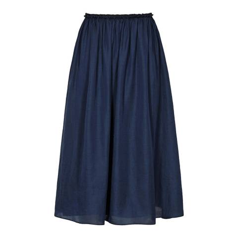 Reiss Blue Smoke Alissa Midi Skirt