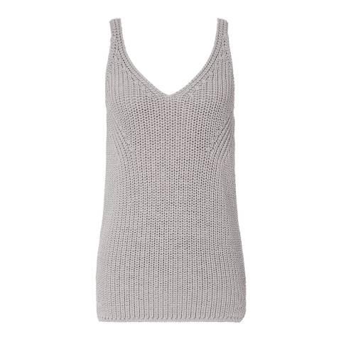Reiss Grey Gemma Knitted Vest Top