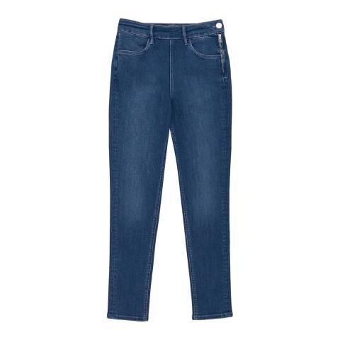 Reiss Mid Blue Hedy Skinny Stretch Jeans
