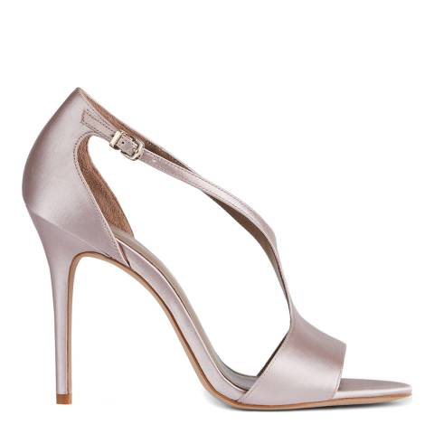 Reiss Blush Maxine Satin Stiletto Heels