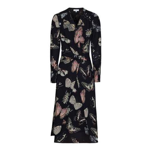 Reiss Multi Lita Butterfly Print Dress