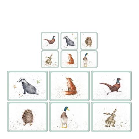 Pimpernel Set of 6 Animal Coasters & Placemats