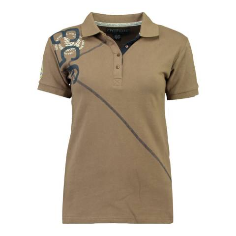 Geographical Norway  Brown Kenvie Short Sleeve Polo