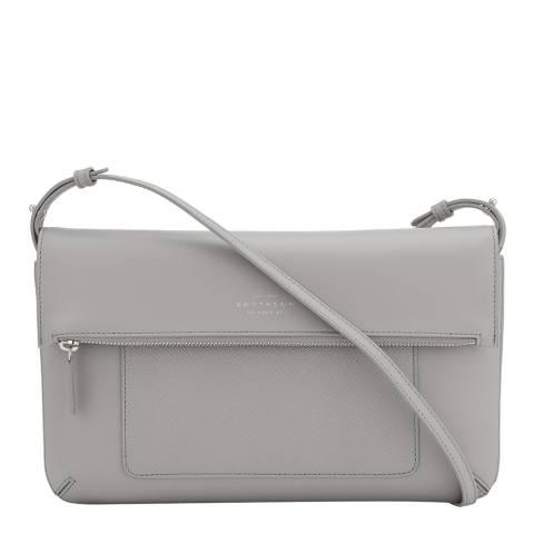 Smythson Grey Panama Folded Crossbody Bag