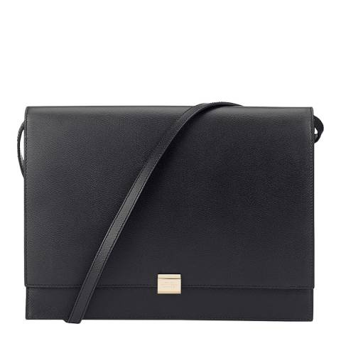 Smythson Black Grosvenor iPad Clutch