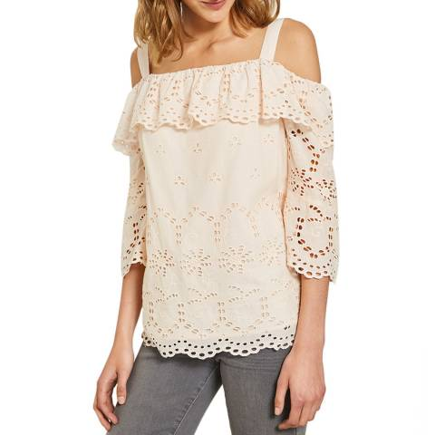 Mint Velvet Blush Broderie Anglaise Top