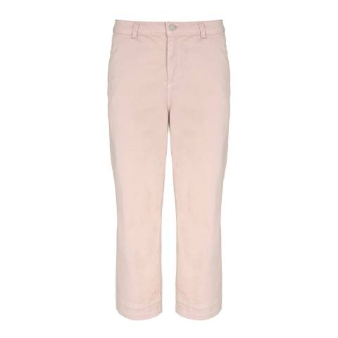 Mint Velvet Light Pink Wide Leg Cotton Stretch Trousers