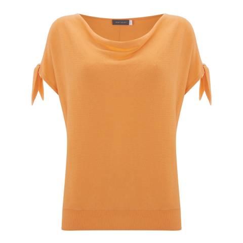Mint Velvet Light Orange Cashmere Blend Tie Sleeve Batwing Jumper