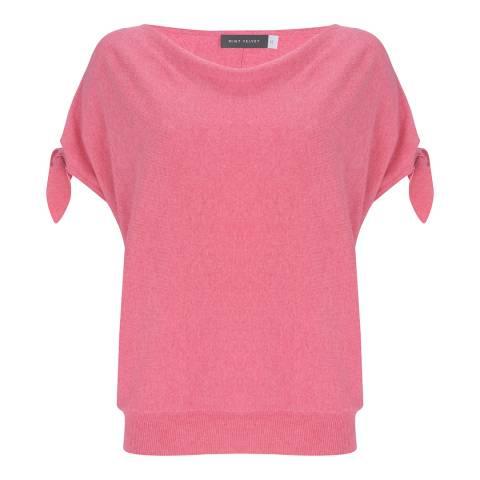 Mint Velvet Pink Cashmere Blend Tie Sleeve Batwing Jumper