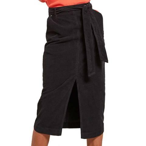 Mint Velvet Ink Belted Cord Skirt