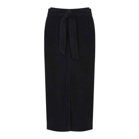 Mint Velvet Ink Belted Cotton Cord Skirt