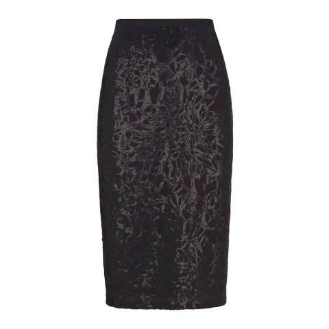 Mint Velvet Charcoal Sequin Pencil Skirt