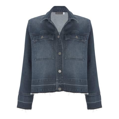 Mint Velvet Blue Raw Sulphur Cotton Stretch Denim Jacket