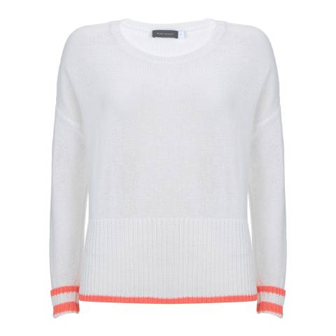 Mint Velvet Ivory/Neon Orange Stripe Jumper