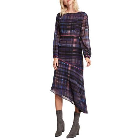 Mint Velvet Lizzie Print Check Midi Dress