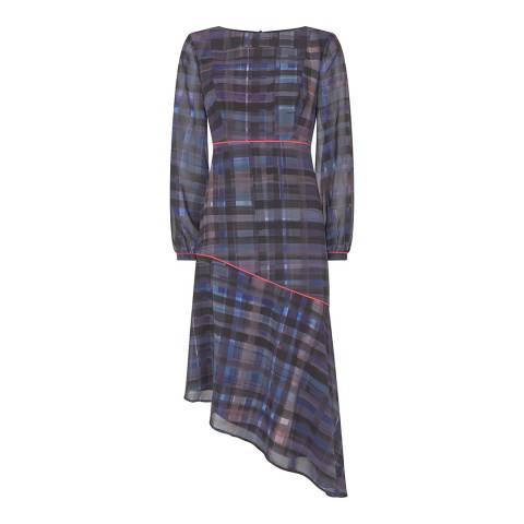 Mint Velvet Multi Lizzie Print Check Midi Dress