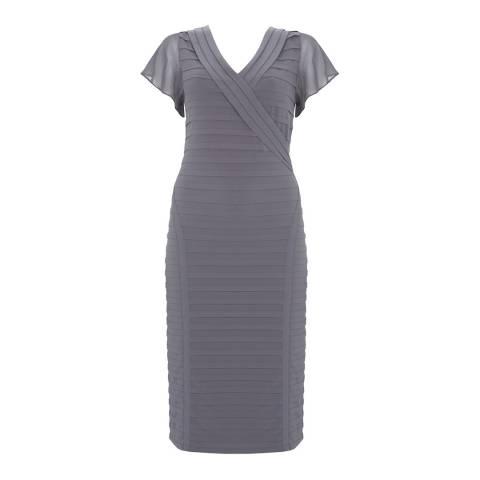 Mint Velvet Mercury Pink Panelled Bandage Dress