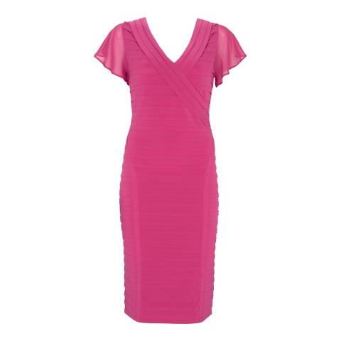 Mint Velvet Cerise Pink Panelled Bandage Dress