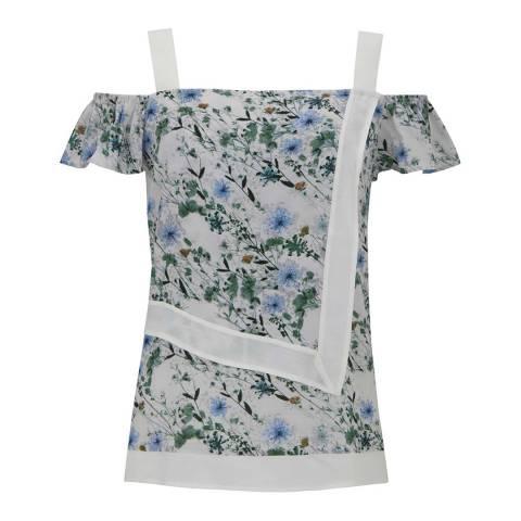 Mint Velvet Multi Lucy Print Cold Shoulder Top