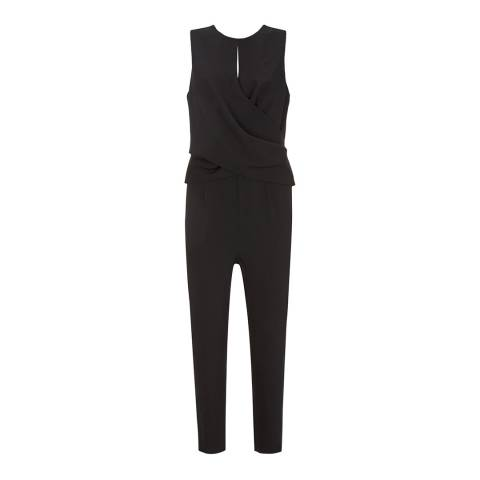 Mint Velvet Black Tie Back Jumpsuit