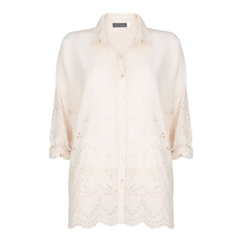 Mint Velvet Blush Broderie Anglaise Cotton Shirt