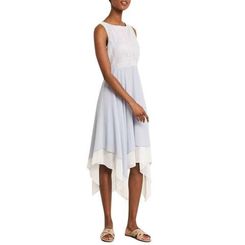Mint Velvet Striped Layered Chiffon Dress