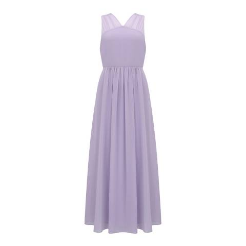 Mint Velvet Lilac Gathered Maxi Dress