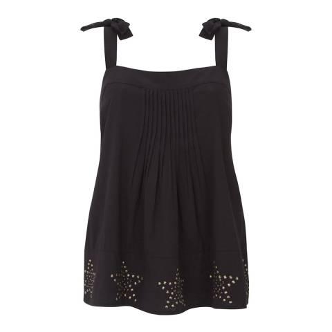 Mint Velvet Black Star Embellished Cami