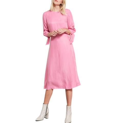 Mint Velvet Bubblegum Cupro Midi Dress